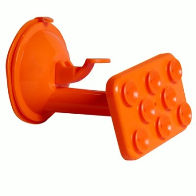 Windshield Suction Mount for Smartphones, GPS, Tablets - Orange