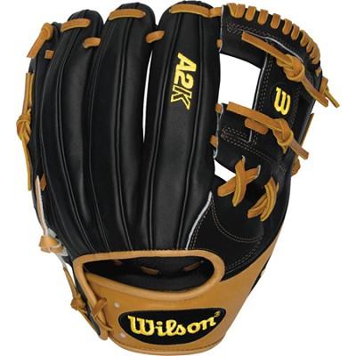 A2K Infield 11.75` Baseball Glove - Black/Tan, Right Hand Throw