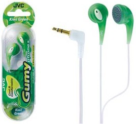 HAF-120G Ultra Soft Earbuds (Kiwi Green) fun see-through color