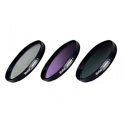 58mm UV, CPL & ND8 Deluxe Filter Kit (Set of 3 + Carrying Case)
