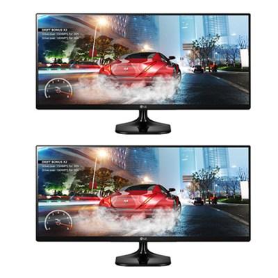 2 34UM57 34` UltraWide 21:9 IPS WFHD LED Cinema Screen Gaming Monitors Bundle