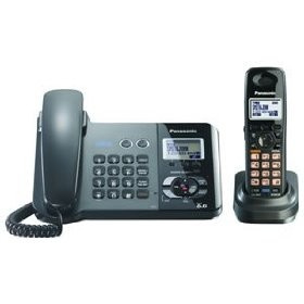 KX-TG9391T Dect 6.0 2- Line Expandable Corded + Cordless Combo W/ Digital Answer