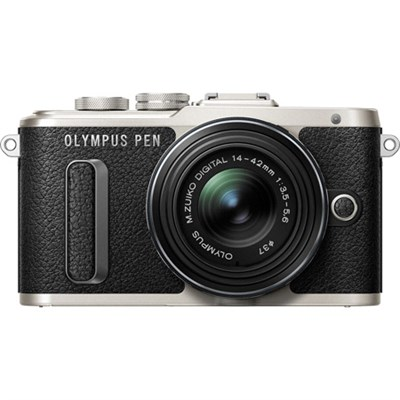 PEN E-PL8 16.1 MP Wi-Fi Black Mirrorless Camera with 14-42mm IIR Black Lens