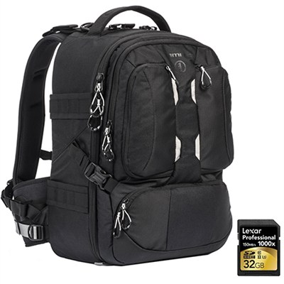 ANVIL 23 Photo DSLR Camera and Laptop Backpack (Black) + 32GB Memory Card