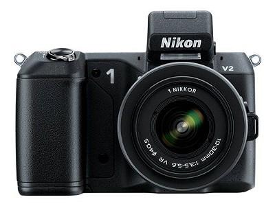 1 V2 14.2 MP HD Digital Camera with 10-30mm VR 1 NIKKOR Lens (Black)