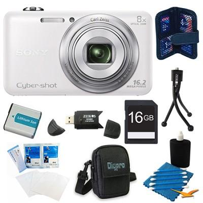 DSC-WX80 16 MP 2.7-Inch LCD Digital Camera White Kit