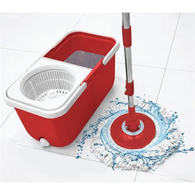 9588 InstaMop The Spinning Action Mop, Red