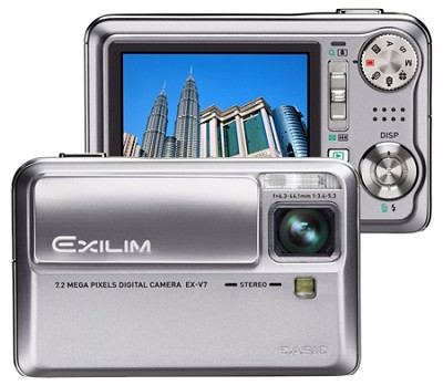 Exilim EX-V7 7.2 MP, 7X Optical Zoom and- 2.5` Super Bright LCD
