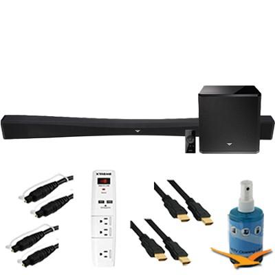 40` 2.1 Home Theater Sound Bar Wireless Subwoofer Plus Hook-Up Bundle SB4021E-B0