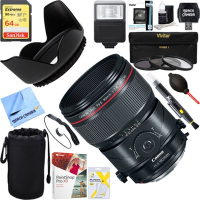 TS-E90mm f/2.8L Fixed Prime Digital SLR MACRO Lens + 64GB Ultimate Kit