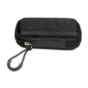 Hard-Molded Camera Case with Zippered pull loop and belt clip (Black)
