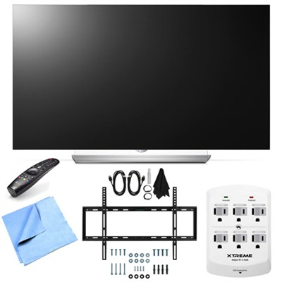 55EF9500 - 55-Inch 2160p Smart 3D Flat OLED TV Mount & Hook-Up Bundle