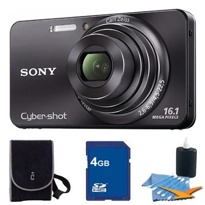 Cyber-shot DSC-W570 Black Digital Camera 4GB Bundle