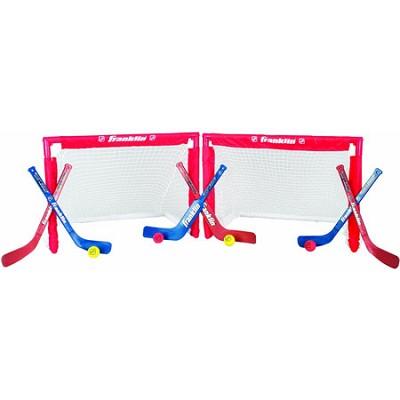 NHL Instant Mini Folding 2-Goal Stick and Ball Combo Set