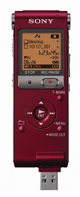 Digital Flash Voice Recorder (Red) - OPEN BOX