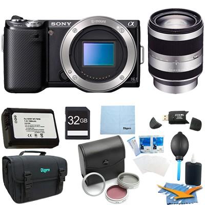 NEX5N/B - NEX-5N Digital Camera (Black) 32 GB Bundle with 18-200mm Zoom Lens