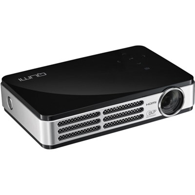 Qumi Q5 500 Lumen WXGA HD 720p HDMI 3D-Ready Pocket DLP Projector Blk - OPEN BOX