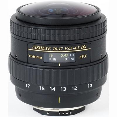 AT-X AF 10-17mm f3.5-4.5 DX Fisheye Lens (No Hood) for Canon Digital SLR Cameras