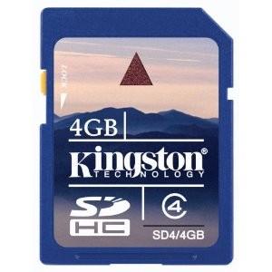 4 GB Class 4 SDHC Flash Memory Card SD4/4GB