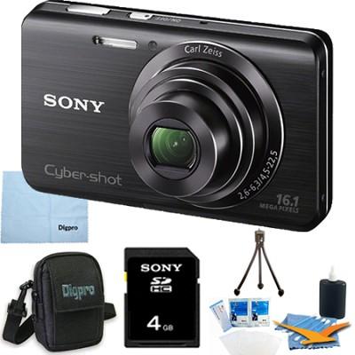 Cyber-shot DSC-W650 Black 4GB Digital Camera Bundle