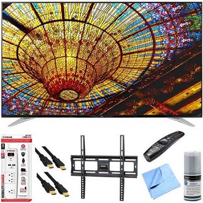 65UF7700 - 65-Inch 240Hz 2160p 4K Smart LED UHD TV Plus Mount & Hook-Up Bundle