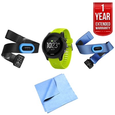 Forerunner 935 Sport Watch Tri Bundle (Yellow) with 1 Year Extended Warranty