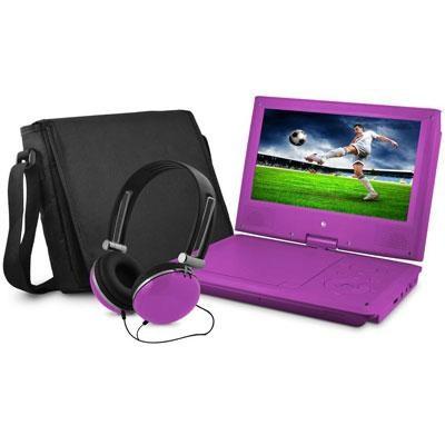 9` DVD Player Bundle Purple