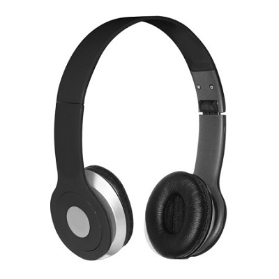 Foldable Over-the-head Headsets with Built-in-mic in Black