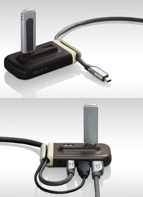 USB 2.0 4-Port HUB- Brown