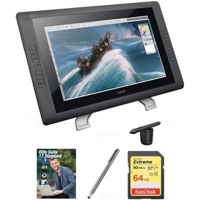 22` HD wide-format Interactive Pen Display w/ Grip Pen w/ Corel Suite Kit