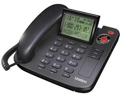 Desktop Corded Caller ID Speakerphone with Large Adjustable LCD