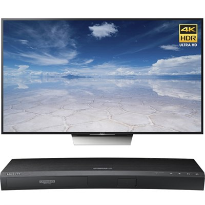 85-Inch Class 4K HDR TV - XBR-85X850D w/ UBD-K8500 3D 4K UHD Blu-ray Player