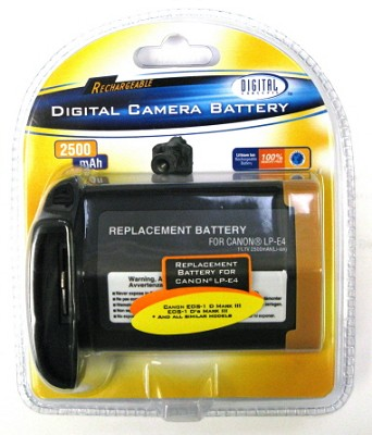 LP-E4 2500mAh Replacement Battery Pack f/ Canon EOS 1D & EOS 1DS Mark III