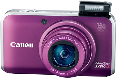 PowerShot SX210 IS 14MP 14x Zoom Digital Camera (Purple)