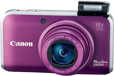 PowerShot SX210 IS 14MP 14x Zoom Digital Camera (Purple)