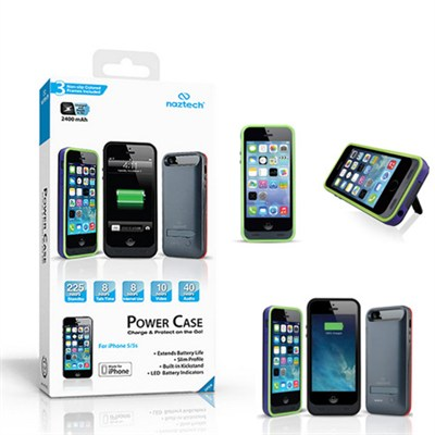 Apple Certi. 2400mAh Power Case w/Kickstand for Apple iPhone 5/5s(Slate)OPEN BOX