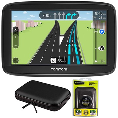 VIA 1625M 6` Touchscreen GPS Navigation Device Lifetime Maps w/ Case and Mount