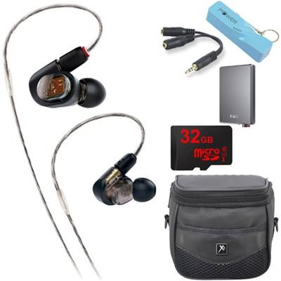 ATH-E70 Professional In-Ear Monitor Fiio Headphone E12 Portable Amplifier Bundle