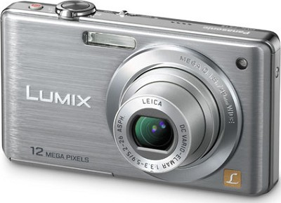 DMC-FS15S LUMIX 12.1 MP Digital Camera w/ 5x Optical Zoom (Silver) - OPEN BOX