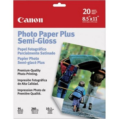 Semi Gloss 8 1/2x11 in Photo Paper Plus 20 Sheets