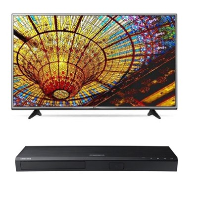 49UH6030 - 49` 4K Ultra HD Smart TV + Samsung UBD-K8500 3D 4K Blu Ray Player