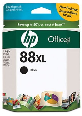 88 Black XL OfficeJet Ink Cartridge - 2450 pages