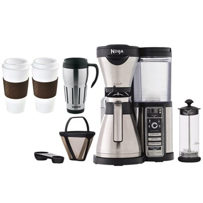 CF086 Coffee Bar Brewer w/ Thermal Carafe, Milk Frother, To-Go Mug Family Bundle