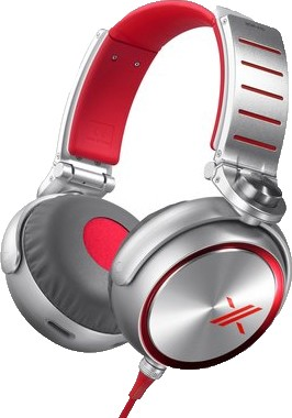 MDRX10 `The X` Headphone with 50mm Diaphragms (Red)