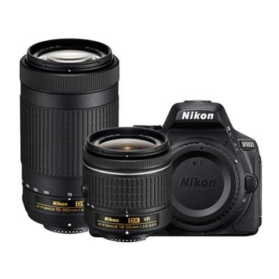 D5600 24.2MP DX-Format DSLR Camera with AF-P 18-55mm VR & 70-300mm ED Lens Kit