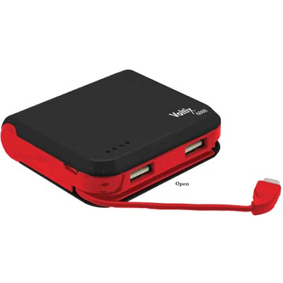 Portable 6000mAh Battery Pack - Charges via dual USB ports
