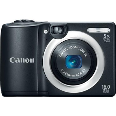 PowerShot A1400 Black 16MP Digital Camera with 5x Opt. Zoom - OPEN BOX