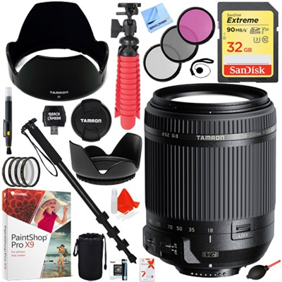 18-200mm Di II VC All-In-One Zoom Lens for Nikon Mount with 62mm Lens Filter Kit