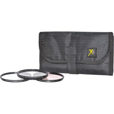 72mm UV, Polarizer & FLD Deluxe Filter kit (set of 3 + carrying case)