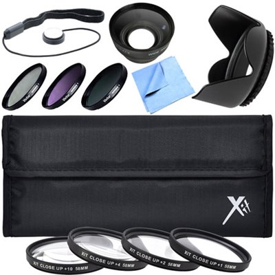 Pro UV CPL FLD Lens Filter + Close-Up Macro Deluxe Accessory Kit for 58mm Filter